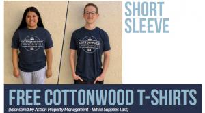 Free Cottonwood T-Shirts