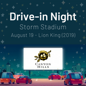 Drive-in Movie Night - August 19