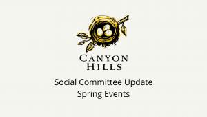 Social Committee Video Update